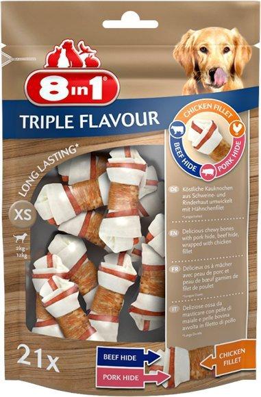 8in1 144434 Przysmak Triple Flavour XS- 21szt