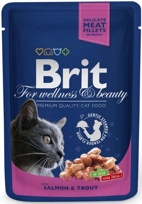 Brit 5999 Premium Cat Łosoś Pstrąg sos saszetka