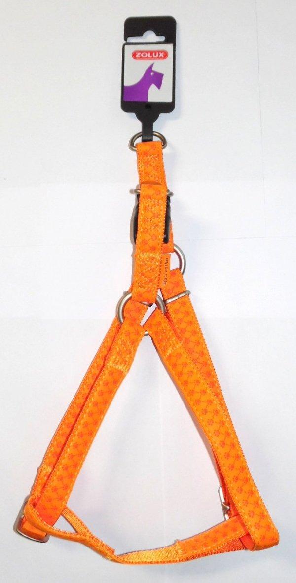 Zolux 435175ORA Szelki Mac Leather 15 mm pomarańcz