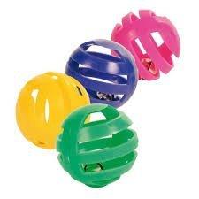 Trixie 4521 Piłki z dzwonkiem 4szt/op