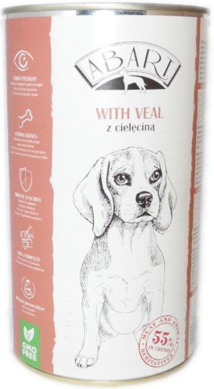 Abart 11953 puszka dla psa 1,24kg z cielęciną