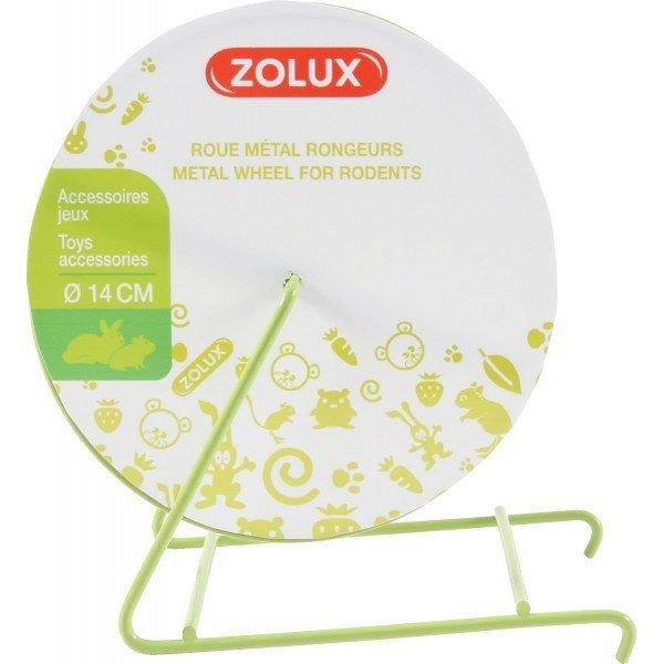Zolux 206753 kołowrotek metalowy O 14cm szary