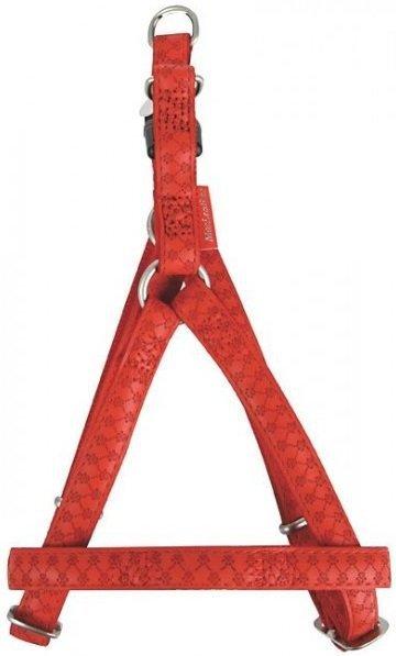 Zolux 522050RO Szelki Mac Leather 10mm CZERWONE
