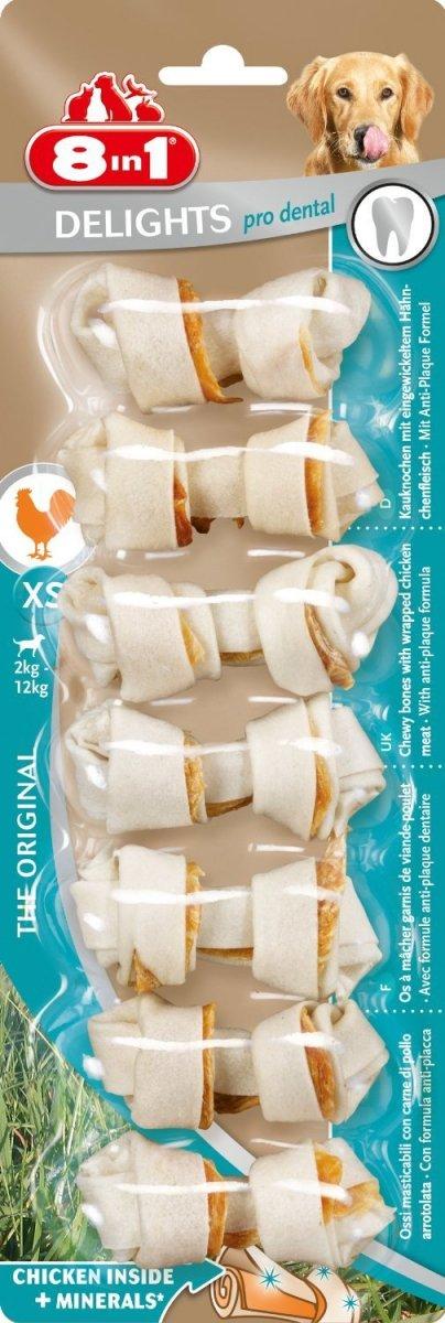 8in1 102595 Przysmak Dental Bones XS 7szt