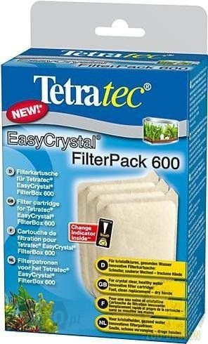Tetra 174658 EasyCrystal Filter Pack 600EC gąbka