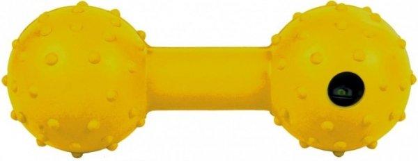 Trixie 3335 Gumowy Hantel z dzwonkiem 12cm