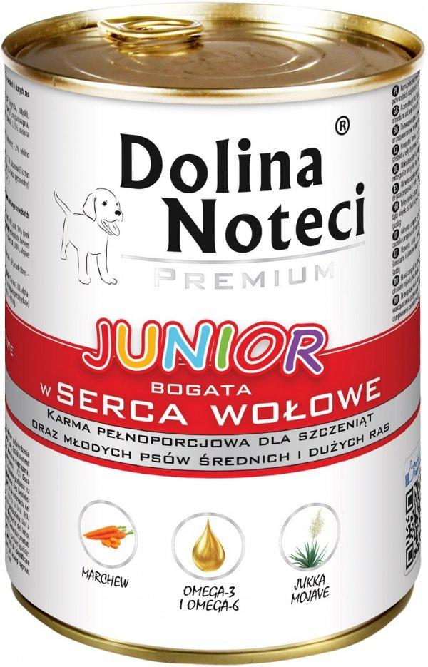Dolina Noteci 3846 Junior serca wołowe 400g