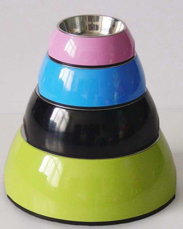 Miska z melaminy DB-01-L rozmiar L okragła zielona