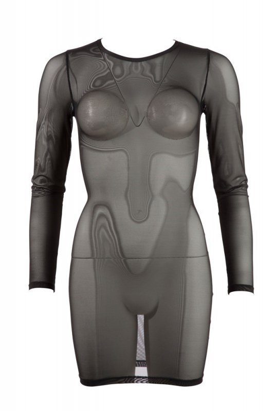 Siateczkowa mini sukienka S