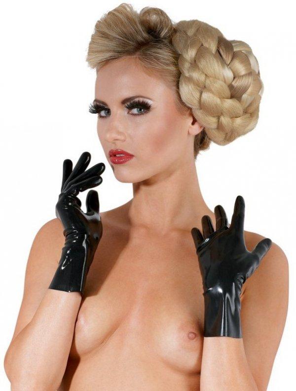 Lateksowe rękawiczki  czarne M