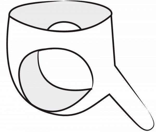 Lateksowe majtki z dildo
