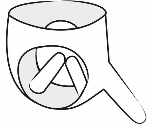 Lateksowe majtki z 3 dildo