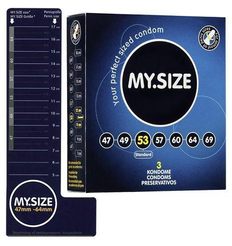 Prezerwatywy 53 mm 3 szt. My.Size