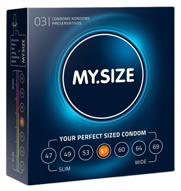 Prezerwatywy 57 mm 3 szt. My.Size