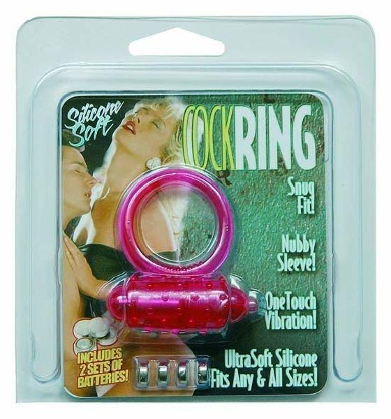 Pierścień na penisa - Cockring różowy