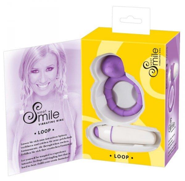Pierścień Smile Loop vibro ring purple