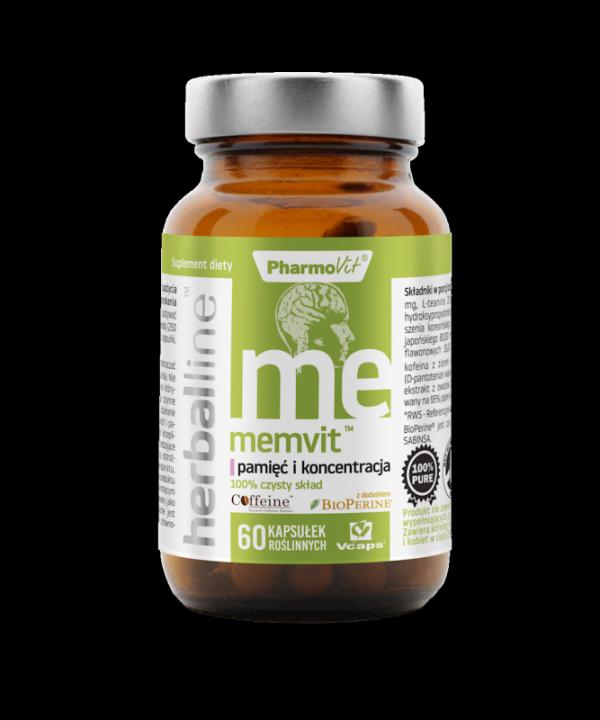 Herballine Memvit™ pamięć i koncentracja 60 kapsułek