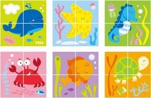 Viga 50161 Kostki puzzle - morze