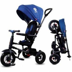 Rowerek trójkołowy - pompowane koła Qplay Rito - niebieski