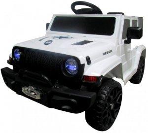 Cabrio Jeep F3 biały , autko na akumulator+ Bujak