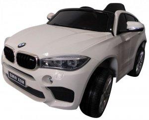 BMW X6M Biały Miękkie koła Eva, miękki fotelik Licencja