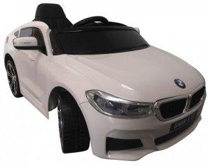 BMW 6GT Biały Miękkie koła Eva, miękki fotelik Licencja