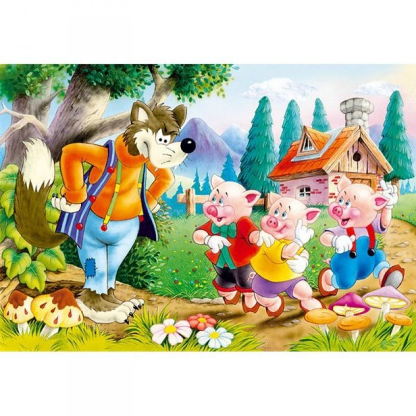 Puzzle 60el. three little pigs