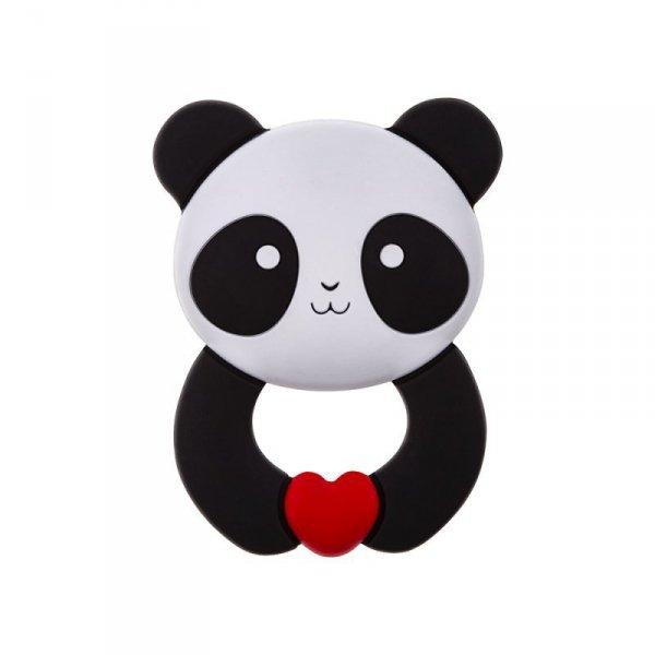 Gryzak silikonowy panda