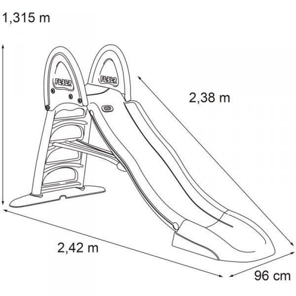 FEBER Zjeżdżalnia Ogrodowa Ślizg Wodny  238 cm dla Dzieci