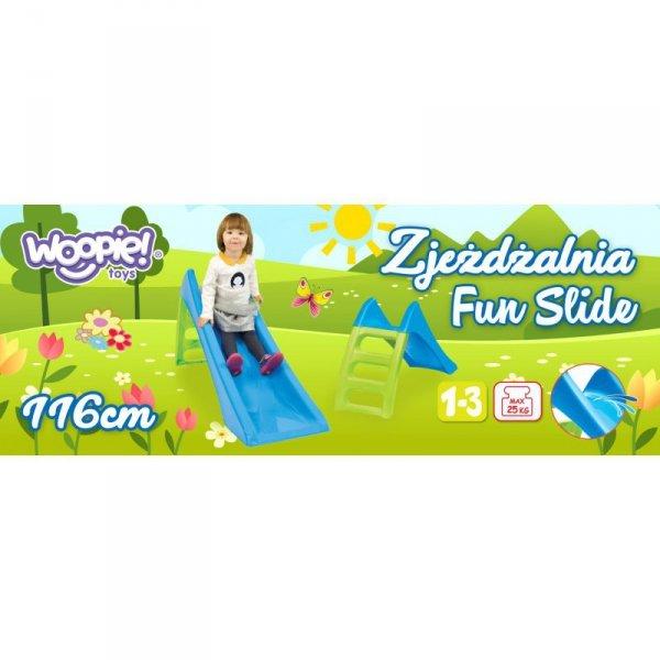 WOOPIE Zjeżdżalnia Ogrodowa dla Dzieci ze Ślizgiem Wodnym Fun Slide 116 cm Zielona