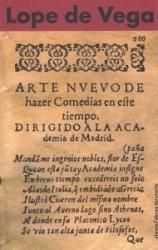 Nowa sztuka pisania komedii Lope de Vega
