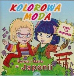 Sylwia i Marta w Japonii Kolorowa moda 2 lalki i 10 magnesów