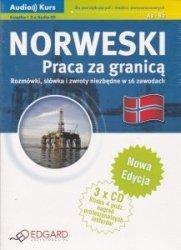 Norweski Praca za granicą Rozmówki, słówka i zwroty niezbędne w 16 zawodach Książka + 3x Audio CD