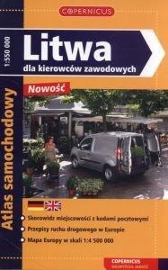 Litwa dla kierowców zawodowych Atlas samochodowy 1:550 000