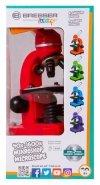 MikroskopBresser Junior Biolux SEL 40–1600x, czerwony