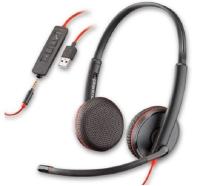 Słuchawki z mikrofonem PLANTRONICS Czarno-czerwony 4ZU0R61627