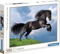 PUZZLE 500 CZARNY KOŃ HIGHT QUALITY CLEMENTONI