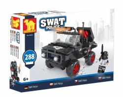 Klocki Swat Policja Samochód Policyjny 288 elementów