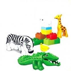 Duże Klocki JDLT 5035 Zoo 13 el zwierzęta #N1