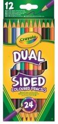 Dwustronne Kredki Ołówkowe 12szt Crayola