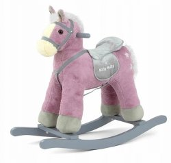 Konik Koń na biegunach Pepe Violet Fioletowy Bujak #B1