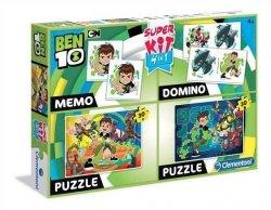 Puzzle Ben 10 Cartoon Network 4w1 Domino Ponad 100 elementów