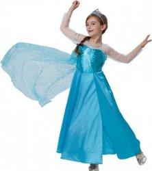 Strój Księżniczka Lodu Frozen 128 Kostium Sukienka