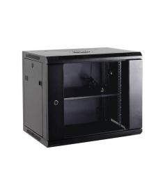 Netrack szafa wisząca 19'', 15U/600x450mm – szary, drzwi szklane, otwierane boki