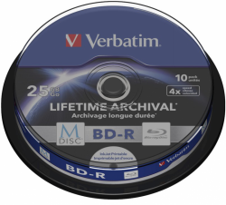 BD-R VERBATIM 25 GB 4x Spindel 10  szt.