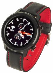 GARETT Smartwatch Men 5S black-red leather