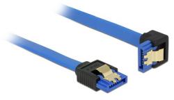 Kabel DELOCK SATA III 6 Gb/s 50 cm kątowy prosto/dół Niebieski 85091