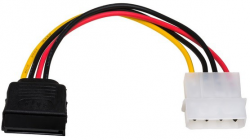 Kabel zasilający AKYGA Molex (wtyk) - SATA (gniazdo) 0.15m. AK-CA-17