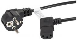 Kabel zasilający LANBERG Wtyczka typ C/F (Schuko) 1.8m. CA-C13C-12CC-0018-BK