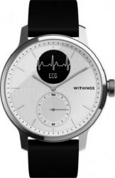 Withings Scanwatch - zegarek z funkcją EKG, pomiarem pulsu i SPO2 oraz mierzeniem aktywności fizycznej i snu (42mm, biały)
